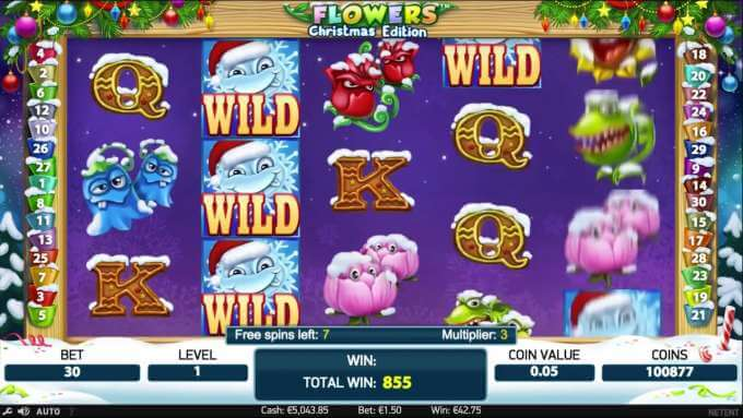 Flowers Christmas Edition - NetEnt Slot