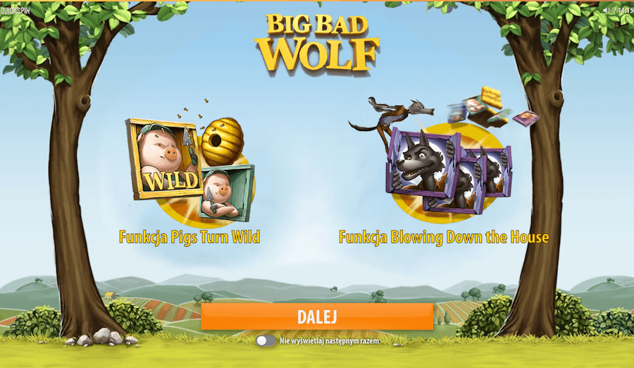 Big Bad Wolf automat of Quickspin