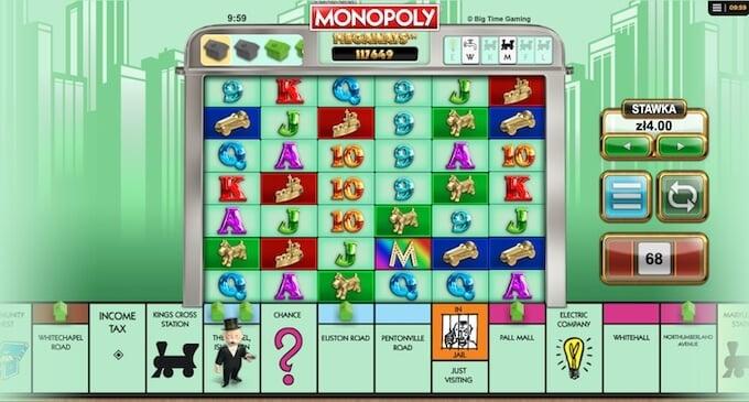 Monopoly Megaways slot BTG