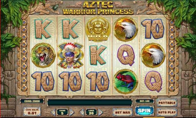 Zagraj na automacie Aztec Warrior Princess