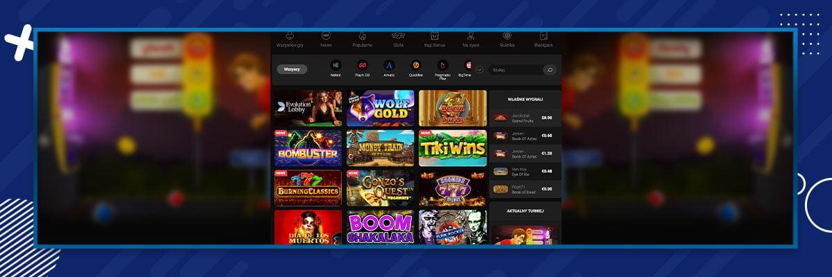 selekcja gier w kasynie Betchan