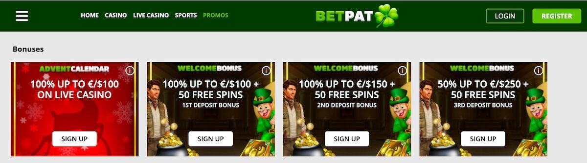 BetPat kasyno oferta powitalna
