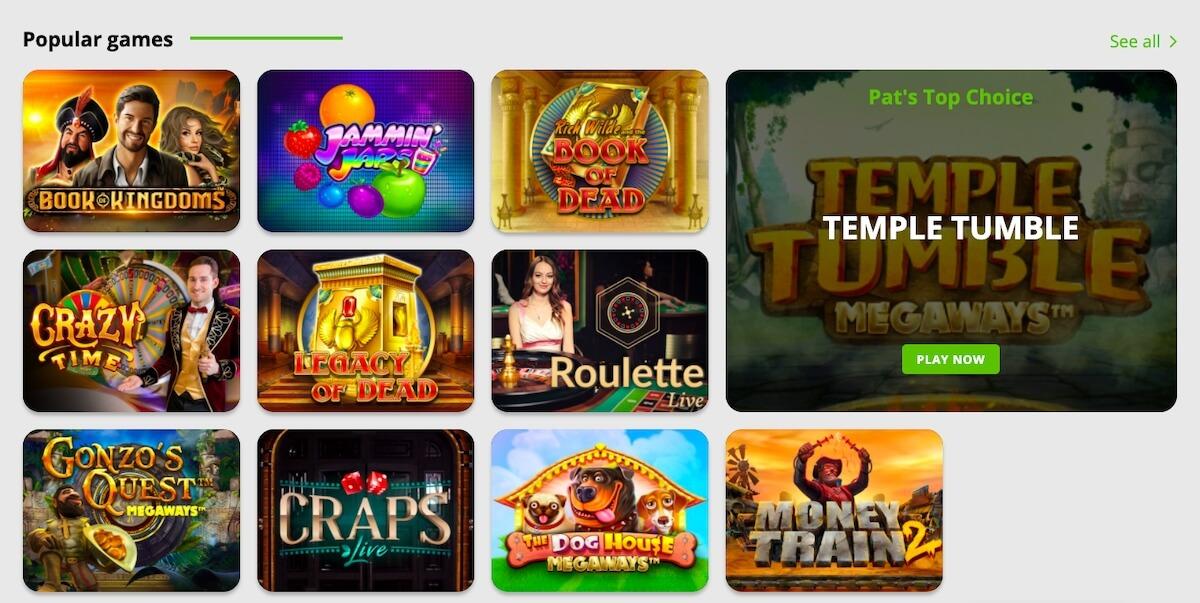 BetPat kasyno selekcja popularnych gier