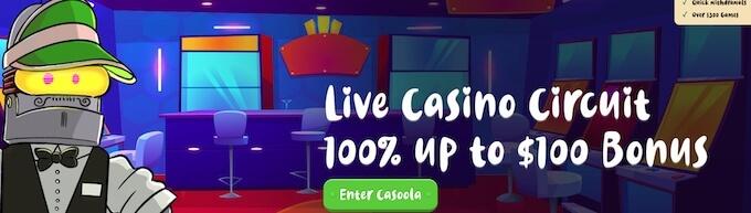 oferta powitalna kasyna na żywo w Casoola