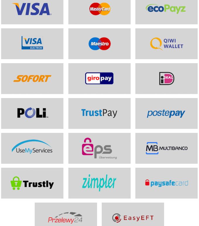 Metody płatności w CasinoSuperlines