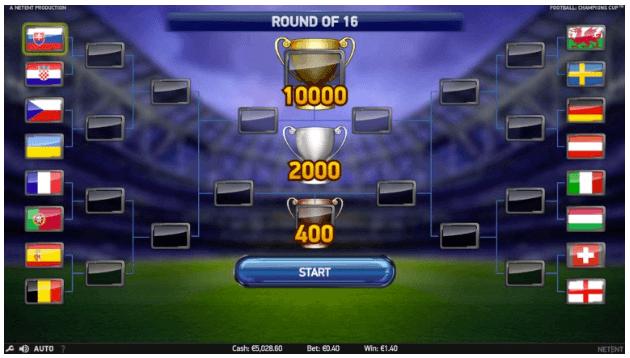 Football: Champions Cup - runda darmowych spinów