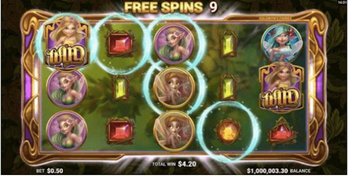 Goldwyn's Fairies funkcja darmowych spinów!