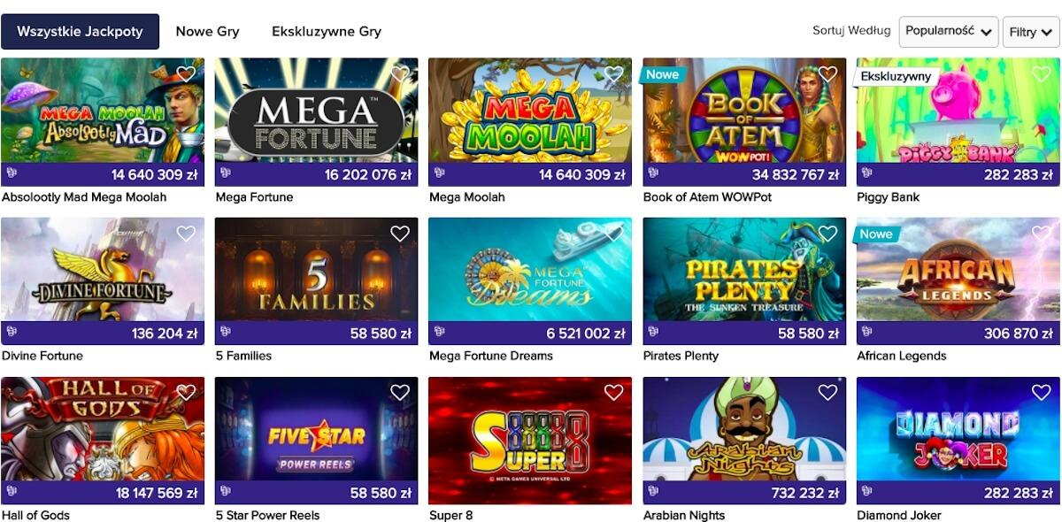 gry z jackpotem w CasinoEuro