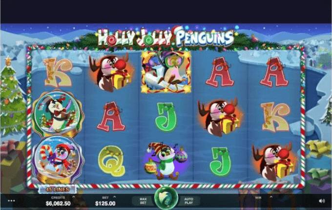 Holly Jolly Penguins gra