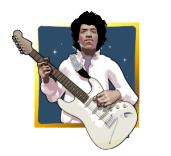 Jimi Hendrix - symbol Scatter