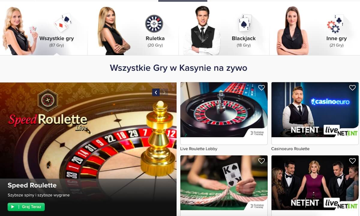 kasyno na żywo w CasinoEuro