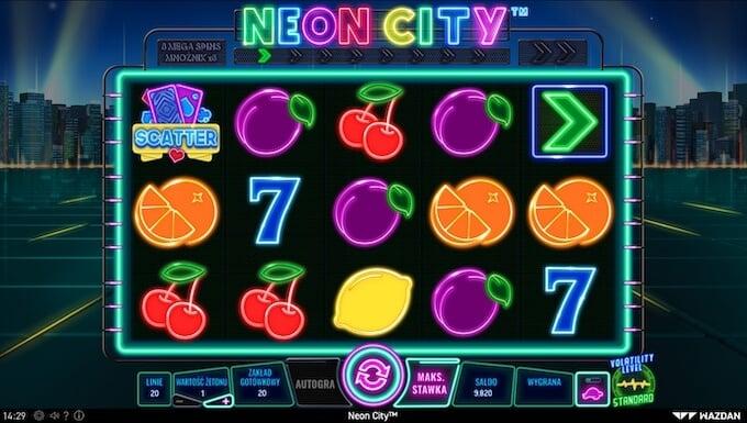 Neon City nowy automat Wazdan