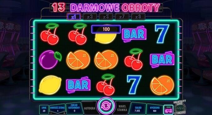 Neon City slot runda darmowych spinów
