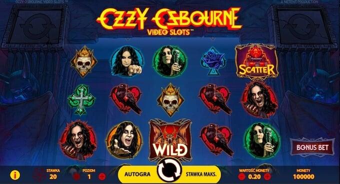 Ozzy Osbourne nowy rockowy slot od Netent