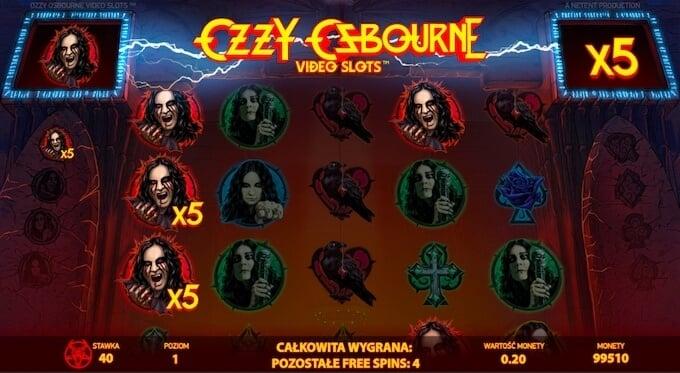Ozzy Osbourne slot od NetEnt runda darmowych spinów