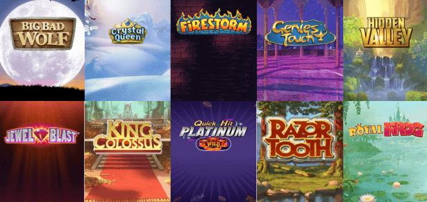 Niektóre z gier od dostawcy Quickspin