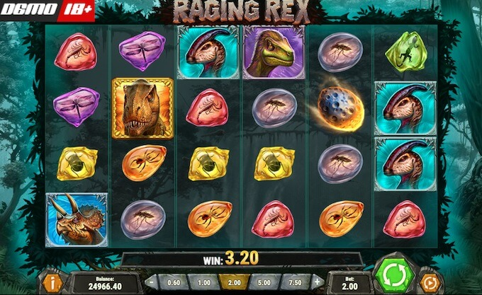 raging rex slot od play n go