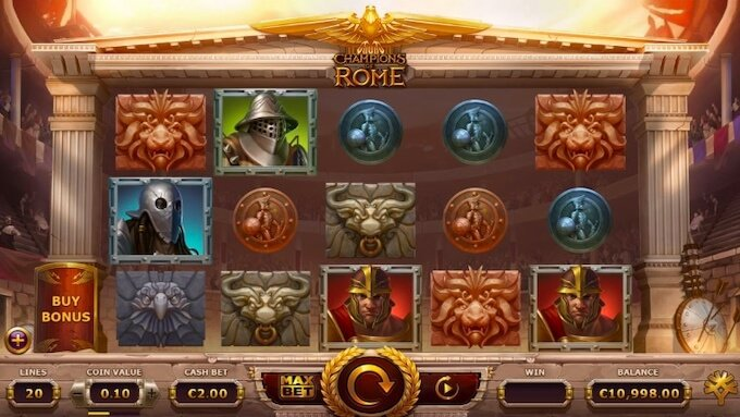 Funkcje Slotu Champions of Rome