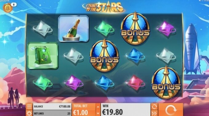 Ticket to the Stars Slot Quickspin