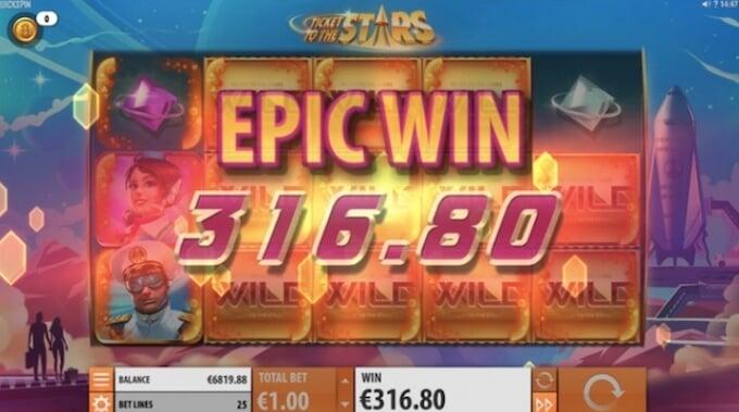 Ticket to Stars Epicka Wygrana