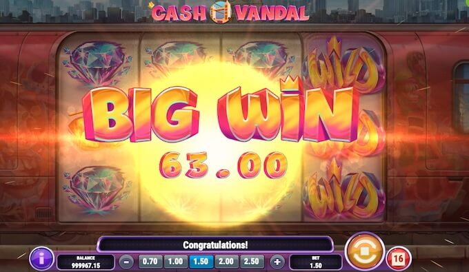 Cash Vandal Duza Wygrana