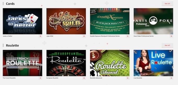 gry stołowe w kasynie Zulabet