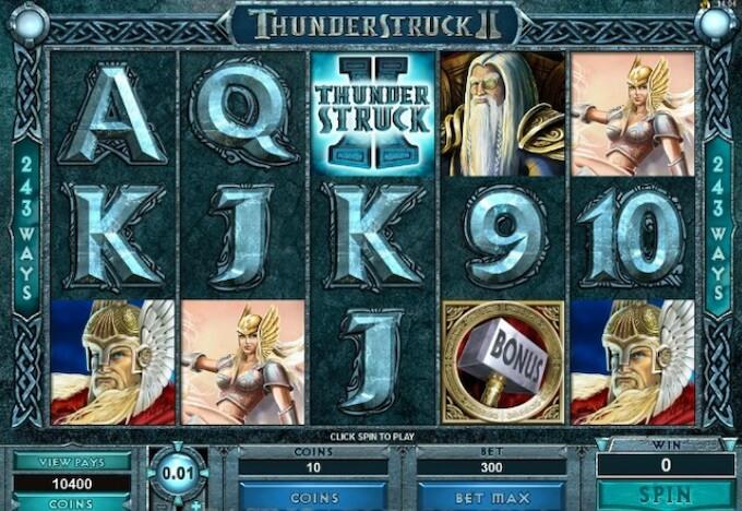 Thunderstruck II funkcje slotu