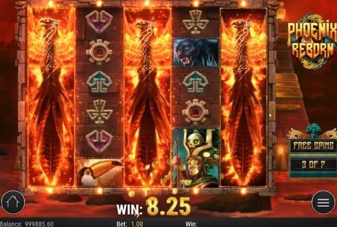 Phoenix Reborn slot funkcja bonusowa