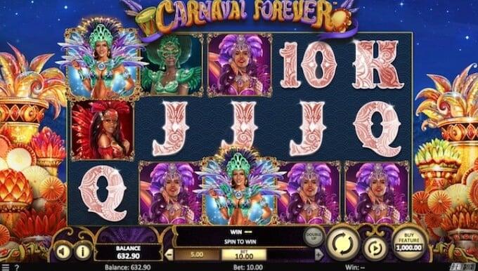 Carnival Forever slot funkcje