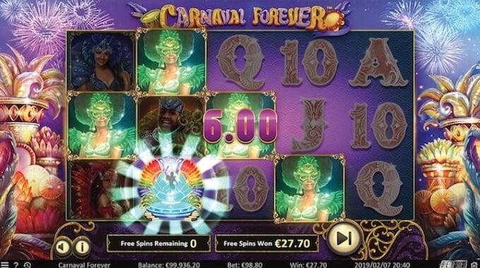 Carnival Forever slot grafika i dzwięki