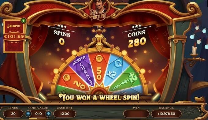 Dr Fortuno slot Wheel of Fortuno
