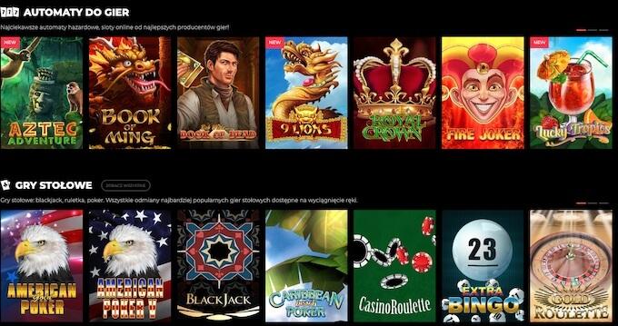 zagraj w gry automaty i gry stołowe w kasynie