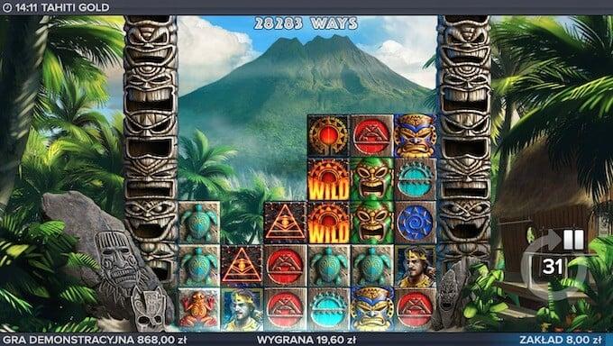 Tahiti Gold slot of Elk Studios funkcja Avalanche
