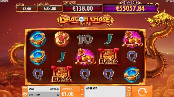 Dragon Chase od Quickspin funkcje slotu