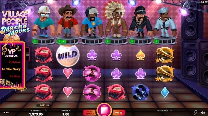 Village Disco Macho Moves slot Microgaming funkcje