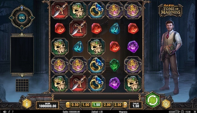 Rich Wilde and the Tome of Madness slot Play N GO funckje