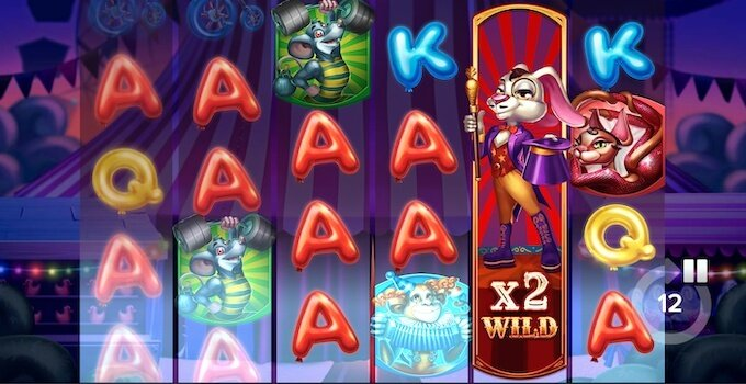 Respin Circus slot Elk Studios grafika i dzwięki