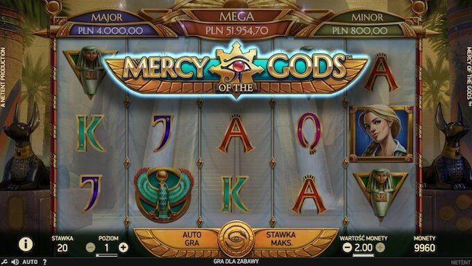 Mercy of the Gods nowy slot Netent