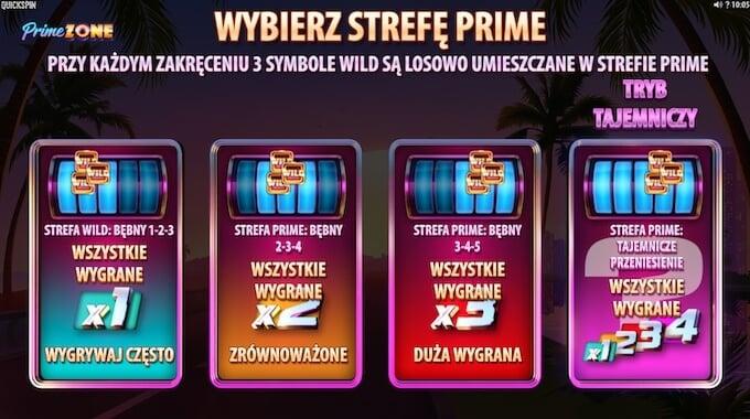 Prime Zone slot od Quickspin rundy darmowych spinów
