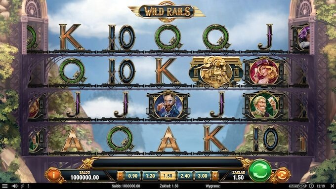 Wild Rails slot Play N GO funkcje i symbole
