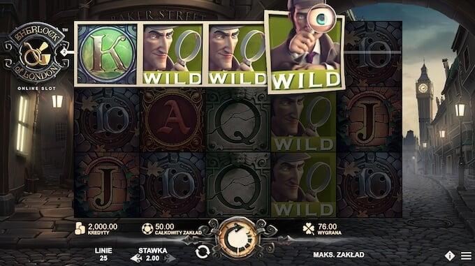 Sherlock of London slot od Rabcat Gaming funkcje gry