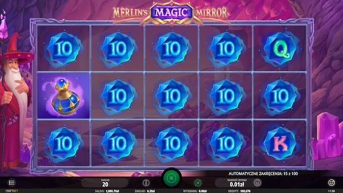 Merlin's Magic Mirror slot funkcje bonusowe