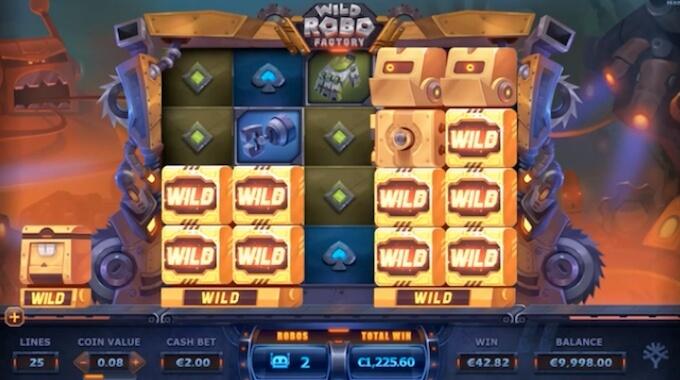 Wild Robo Factory slot runda darmowych spinów