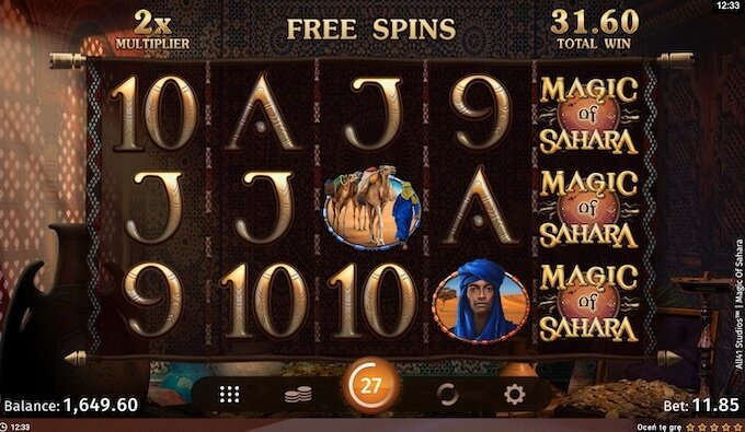 Magic of Sahara slot funkcje bonusowe