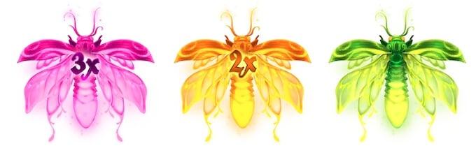 symbole wild w slocie Firefly Frenzy