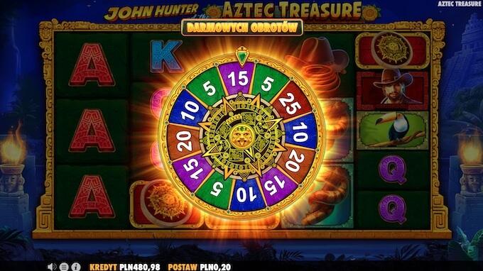 John Hunter and the Aztec Treasure darmowe spiny