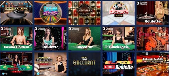 gry na żywo w kasynie online casoo