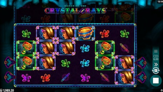 Queen of the Crystal Rays recenzja slotu Microgaming