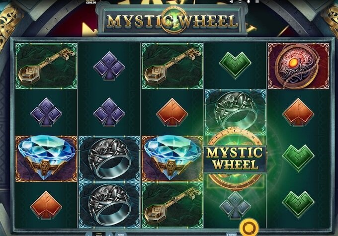 Mystic Wheel nowy slot Red Tiger Gaming symbole
