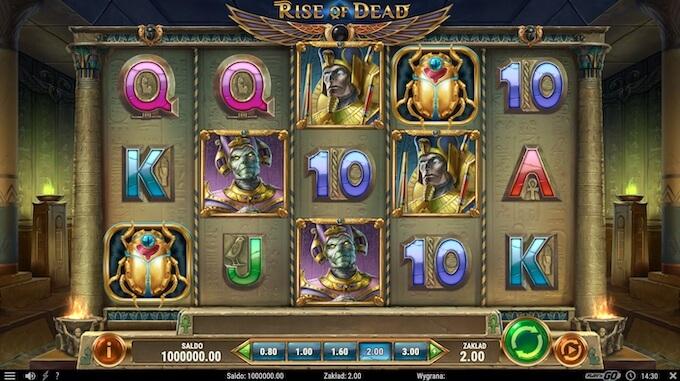 Rise of Dead slot od Play'n Go symbole